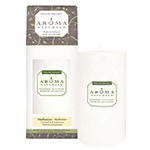 Aroma Naturals Naturally Blended Candle Meditation (White) 2 3/4'' x 5'' Pillar 70 hours burn time: K