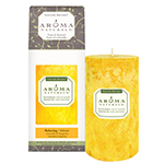 Aroma Naturals Naturally Blended Candle Relaxing (Tangerine) 2 3/4'' x 5'' Pillar 70 hours burn time: K