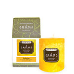 Aroma Naturals Naturally Blended Candle Relaxing (Tangerine) 3'' x 3 1/2'' Pillar 60 hours burn time: K