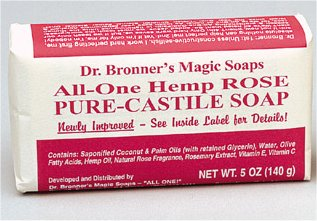 Organic Hemp Rose Pure Castile Bar Soap 5 oz: K