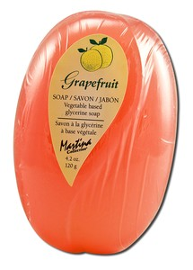 Kappus Soaps Glycerin Hand & Body Soap Grapefruit 4.2 oz. oval cello-wrapped: K