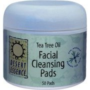 Natural Facial Cleansing Pads with Tea Tree 50 count: K