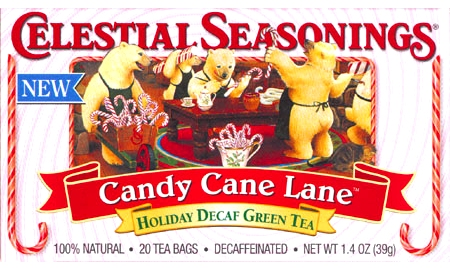 Candy Cane Lane Holiday Decaf Green Tea 20 teabags: K
