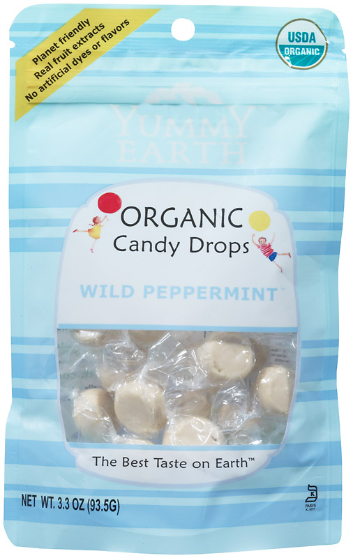 Green Tea Organic Candy Drops Wild Peppermint 3.3 oz bags (approximately 30 count): K