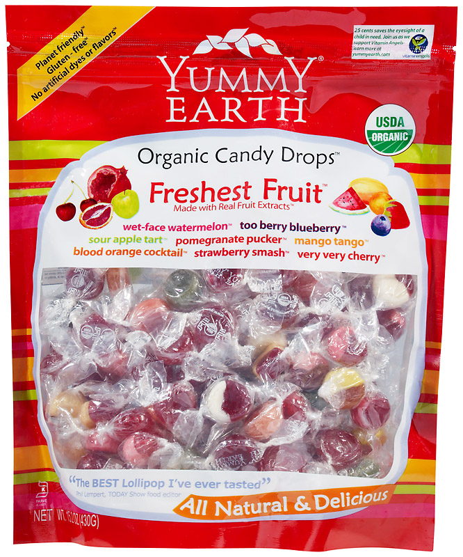 Green Tea Organic Candy Drops Assorted Flavors 1 lb. bulk bag (approximately 135 count): K