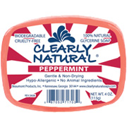 Glycerine Bar Soap Peppermint 4 oz individually wrapped: K