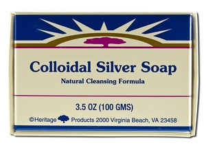 Colloidal Silver Bar Soap, pack of 3/ 3.5 oz bars: K