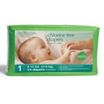 Baby Diapers Stage 1 (8-14 lbs.) 44 count Chlorine-Free: K