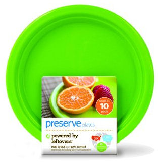 Plates: On the Go Tableware Apple Green Plateware Small 7'' - 10 count: K