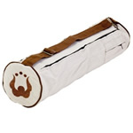 "Natural Fitness Eco-Mat Bags Hemp Yoga Mat Bag with adjustable shoulder strap and exterior zip pocket 7"" x 27"": K"