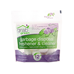 Grab Green Garbage Disposal Freshener & Cleaners Thyme with Fig Leaf Pre-Measured Concentrated Powder Pods 12 count: K