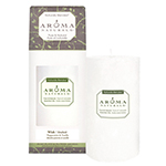 Aroma Naturals Holiday Candle Wish (Snow) Pillar 2 3/4'' x 5'': K
