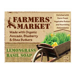 Farmers Market Natural Bar Soap Lemongrass Basil 5.5 oz: K