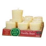 Aloha Bay Eco Palm Wax Candle Vanilla Bean, Cream Votive Candle 12 pack: K