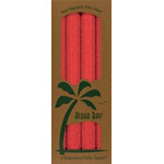 Aloha Bay Palm Wax Candle Red Unscented 9'' Tapers 4 pack: K
