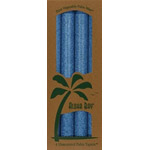 Aloha Bay Palm Wax Candle Royal Blue Unscented 9'' Tapers 4 pack: K