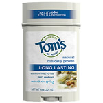 Toms of Maine Body Care Mountain Spring Mens Long Lasting Deodorant Sticks 2.25 oz: K