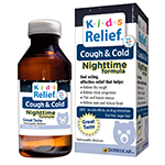 Homeolab Kids Relief Cough & Cold Nighttime, Caramel Flavored 8.5 fl oz Homeopathic Medicines for Kids 2+ years: K