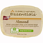 Clearly Natural Natural Glycerine Bar Soap Almond 4 oz.: K