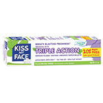 Kiss My Face Oral Care Triple Action Fluoride-Free, Fresh Mint Toothpastes 4.1 oz: K