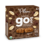 Plum Organics Plum Kids Chocolate Chip Cert. Organic Go Bars Chewy Oat Bars with Veggies 6 (1.27 oz) bars per box: K