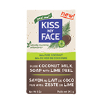 Kiss My Face Coconut Milk Bar Soaps Coconut Milk with Lime Peel 5 oz.: K