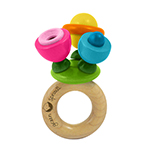 Toys Flower Rattle, Wooden: K