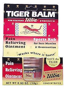 Tiger Balm Ointment Ultra Strength (non-staining) 18 grams: K