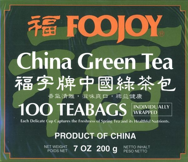 Foojoy China Green Tea (Lu Cha) 100 teabags (7 oz / 200 gram): V (Special Order)