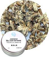 Jasmine Silver Stars Flowered Green Tea 1 oz tin: V (Special Order)