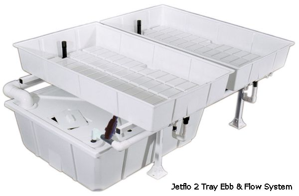 Jetflo 3 Tray Ebb & Flow System With 2 40 Gallon