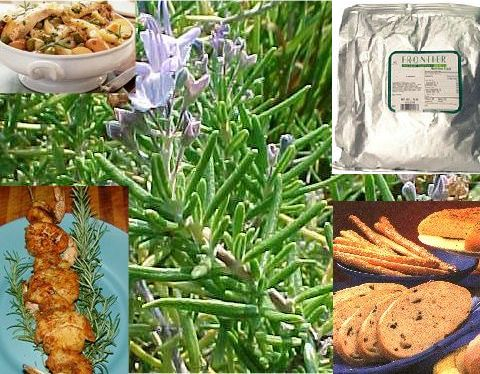 Rosemary Leaf Whole Cert. Organic (Rosmarinus officinalis) 1 lb: K