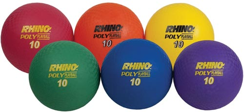 10'' Ultimate Rhino'' Poly Playballs - Set of 6: SP