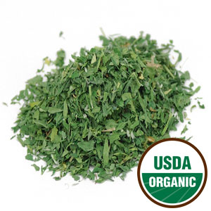Alfalfa Leaf Cut & Sifted Cert. Organic (Medicago sativa) 4 oz: C