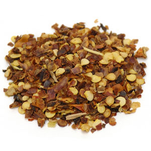 Chili Flakes, Red 35K H.U. Cert. Organic, (25 lbs earns 15% refund) 1 lb: C