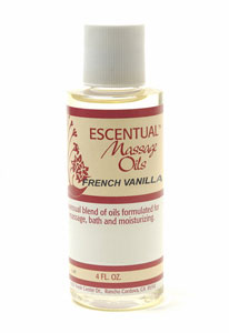 French Vanilla Escentual™ Massage Oil 4 fl oz: C